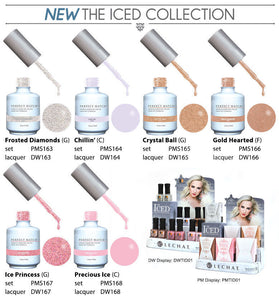 LeChat Perfect Match Manicure pedicure Soak off gel + Nail polish *THE ICED* Collection