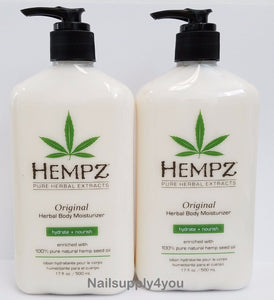Pack of 2 -17oz Hempz Pure Herbal Extract Lotion - ORIGINAL