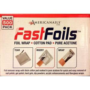 FASTFOILS - All in one Acetone ready Foil Remove wrap for Gel Polish - 500 Packs