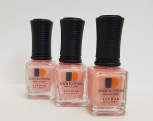 3 Pink SHADES  LeChat Dare to Wear Regular Nail Polish - 0.5oz/15ml bottle X 3