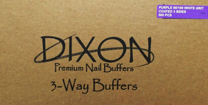 Case of 500 pcs Nail Buffers -  Dixon Buffer 3 Ways Block Purple -Grit 60/100 (X coarse)