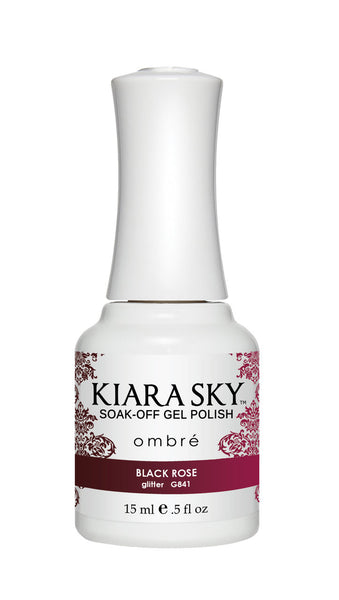 Kiara Sky Soak-off Gel Polish Ombre - G841 BLACK ROSE
