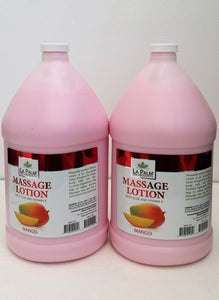LaPalm Products - Massage Lotion With Aloe & Vitamin E- Mango - 2 gallon