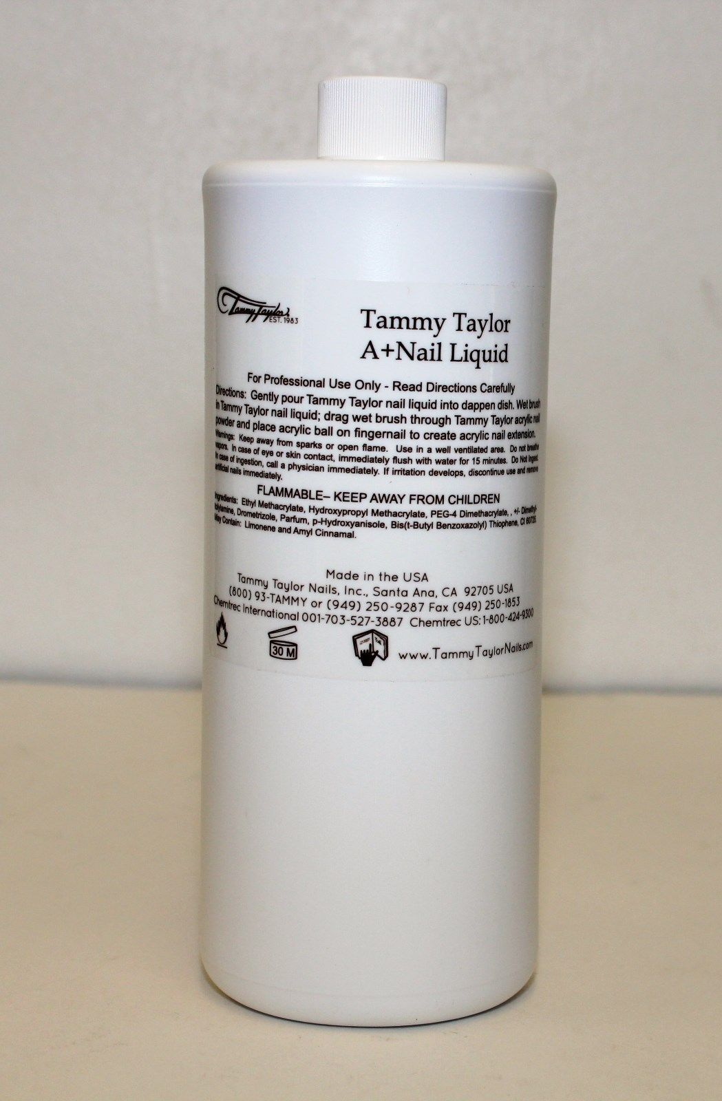 Tammy Taylor Nails - Manicure Pedicure Acrylic Nail Liquid A+ - 32 fl. oz (For Pink & White)