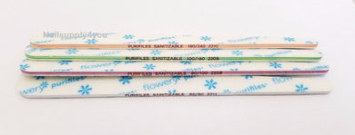Pack of 20 Flowery Purifiles Disinfectable  TAPERED Nail File - Choose Your Grit