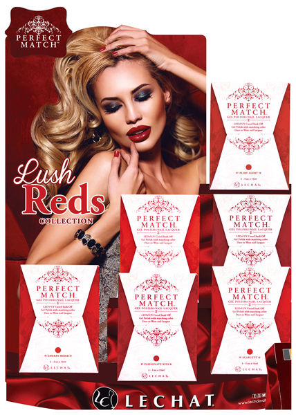 LeChat Perfect Match - Gel+ Matching Nail Polish colors - REDS LUSH Collection