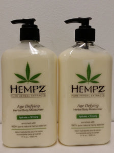 Pack of 2 of Hempz Lotion Herbal Body moisturizer - Age Defying - 17 fl. oz