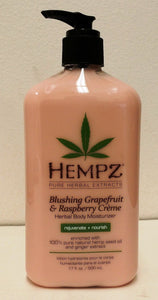 Hempz Lotion Herbal Body moisturizer-Blushing Grapefruit & Raspberry- 17 fl. oz