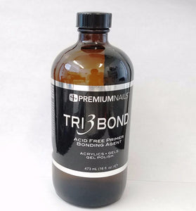 Premiumnail - Tri 3 Bond Acid-Free Primer for Soak off Gel, Acrylic, Hard Gel systems - 16 fl. oz