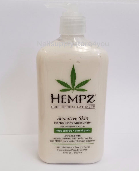 Hempz Lotion Herbal Body moisturizer - SENSITIVE SKIN - 17 fl. oz