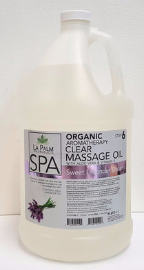 LA PALM Aromatherapy Organic Massage Oil Clear SWEET LAVENDER DREAMS  -1 Gallon