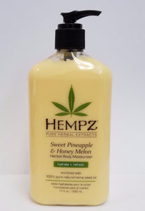 Hempz Lotion Herbal Body moisturizer - Sweet Pineapple & Honey melon - 17 fl. oz