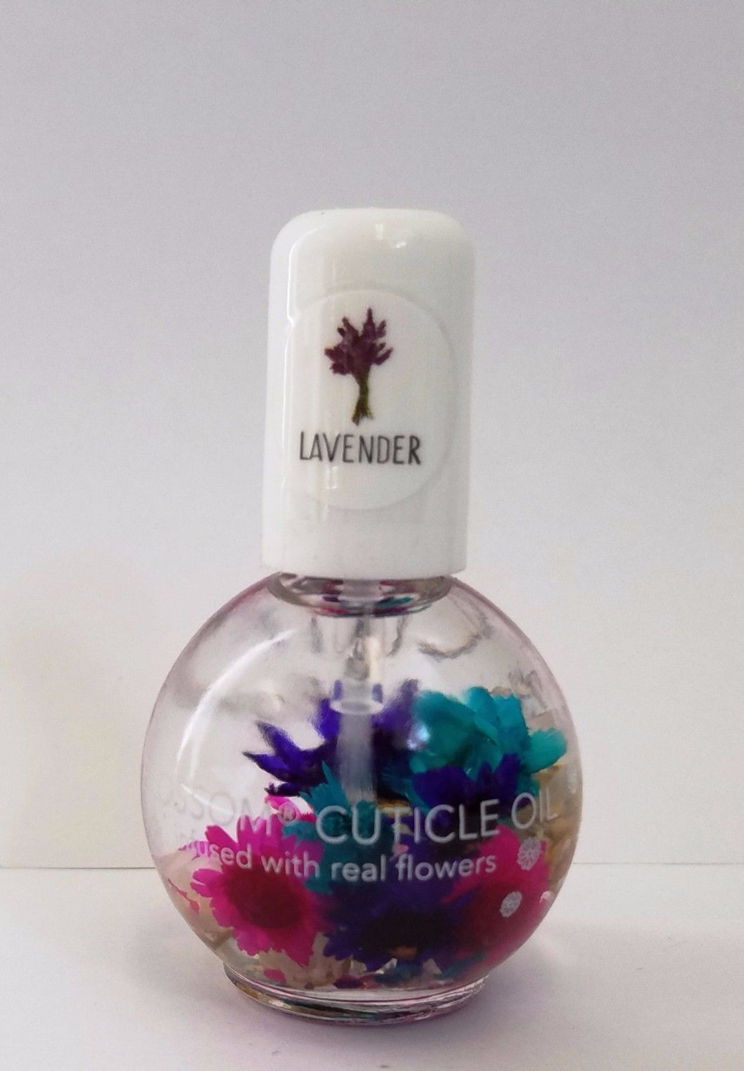 Blossom Cuticle Oil with Real Flowers 0.5oz - LAVENDER