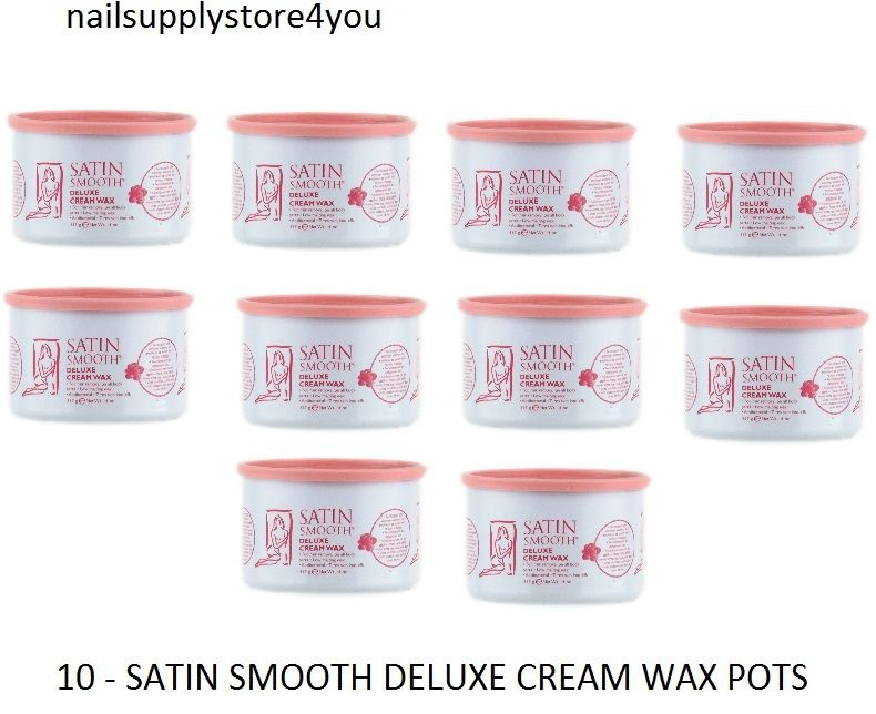 Pack of 10 Jars - Satin Smooth Deluxe Cream Wax 14oz/397g