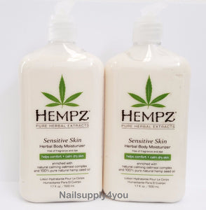 Pack of 2 -17oz Hempz Pure Herbal Extract Lotion - SENSITIVE SKIN