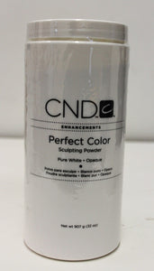 CND Perfect Color Sculpting White Powder 32oz/907g - Choose your Favorite Colors