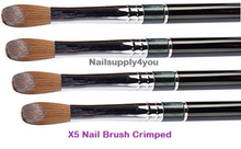 X5 SUPER Kolinsky Acrylic Nail Brush for Powder Manicure (CRIMPED) - Choose Size