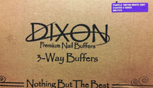 Case of 500pcs Nail Buffers - Dixon Buffer - Purple - Premium 3 Ways -Grit 100/180 (FINE)