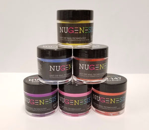 NUGENESIS - Manicure Pedicure Nail Dipping Color Powder 1oz/jar - (NU01 - 60)