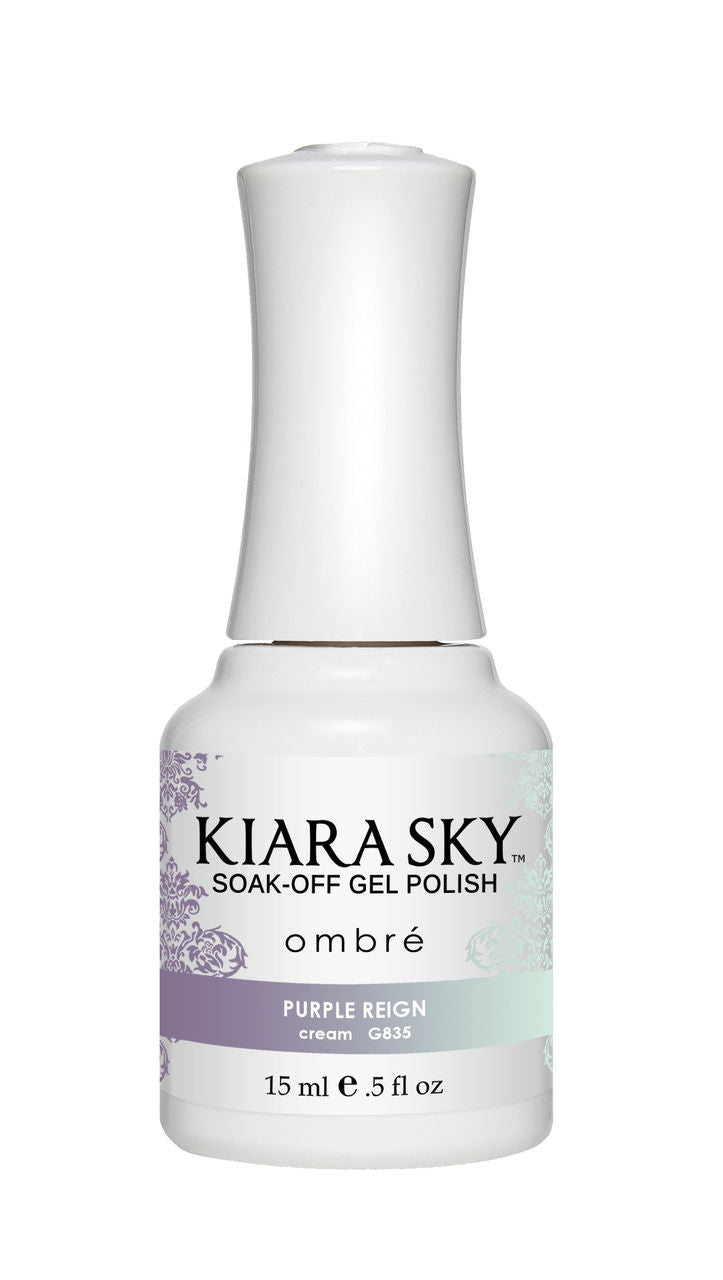 Kiara Sky Soak-off Gel Polish Ombre - G835 PURPLE REIGN