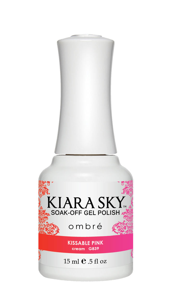Kiara Sky Soak-off Gel Polish Ombre - G839 KISSABLE PINK