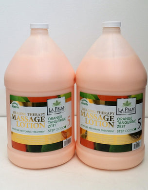 LAPALM PRODUCT Healing Therapy Massage Lotion- Orange Tangerine Zest - 2 gallon
