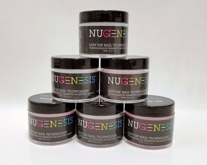 NUGENESIS - Nail Dipping Powder PINKS & WHITES - 1.5oz/jar