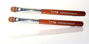 2 of Manicure & Pedicure French Brush - 777F Red Wood Handle size #14