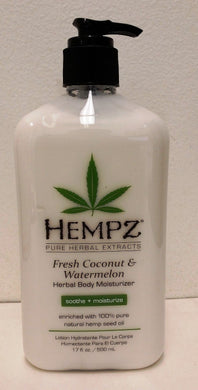 Hempz Lotion Herbal Body moisturizer - Fresh Coconut & Watermelon - 17 fl. oz