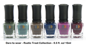 LeChat Dare to wear - Nail Polish - RUSTIC TREAT - 6 Full Size bottles