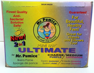LOT of 12 - Mr. Pumice PUMI BAR ULTIMATE 2 IN 1 COARSE Purple/ MEDIUM Lavender