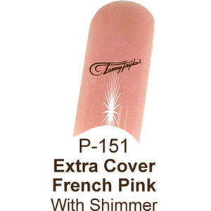 French pink with shimmer