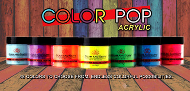 Glam and Glits - COLOR POP ACRYLIC Powder - 1oz Jar
