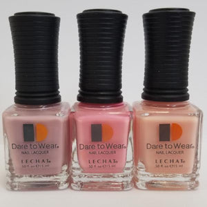 3 Pinks SHADE LeChat Dare to Wear Regular Nail Polish - 0.5oz/15ml