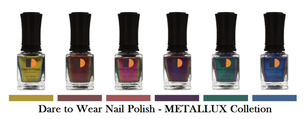 Dare to Wear METALLUX Nail Polish 0.5oz - (We combine shipping- See description)