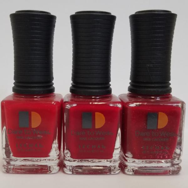 3 REDS SHADE LeChat Dare to Wear Regular Nail Polish - 0.5oz/15ml