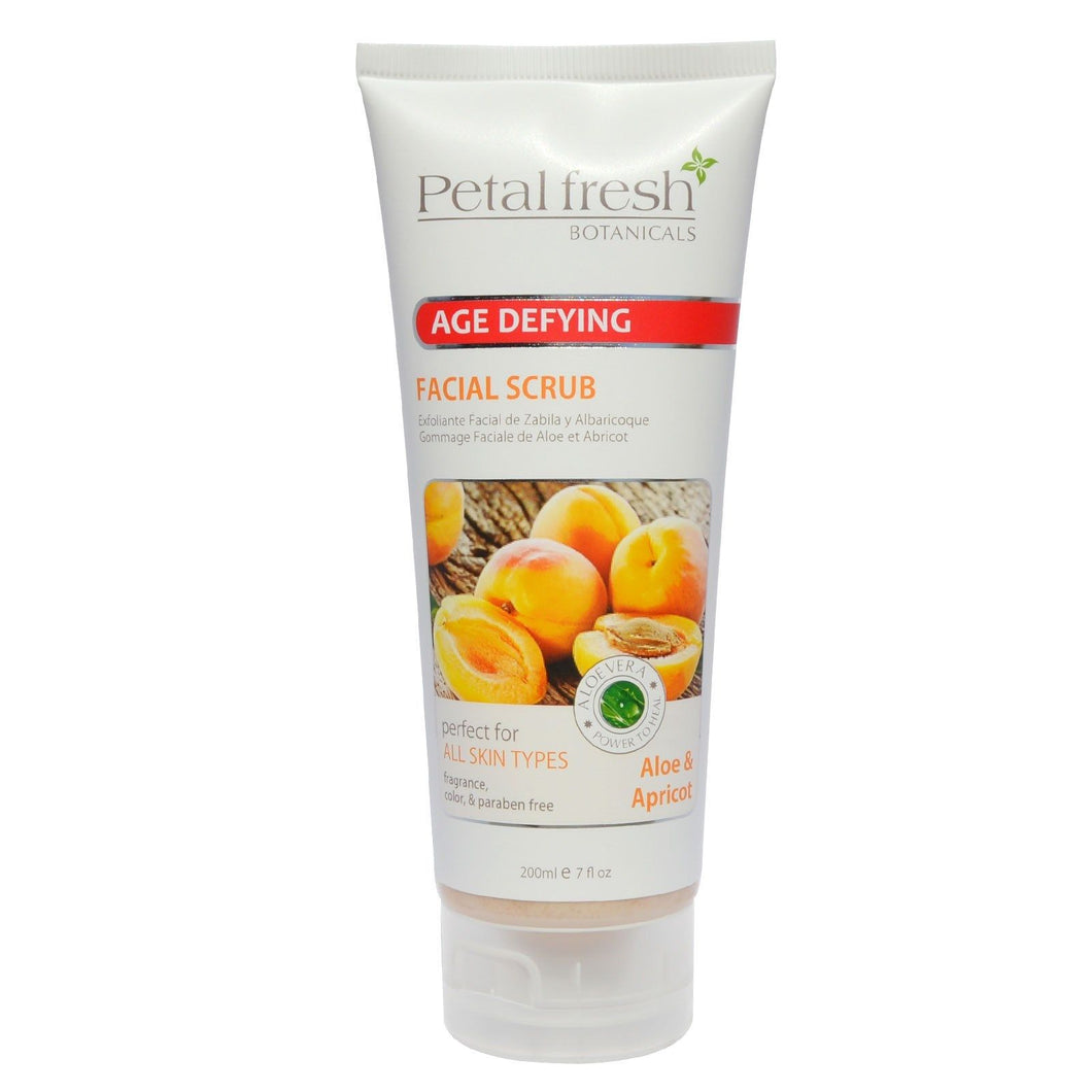 NEW Petal Fresh Botanicals - Age Defying FACIAL SCRUB - ALOE & APRICOT - 7oz