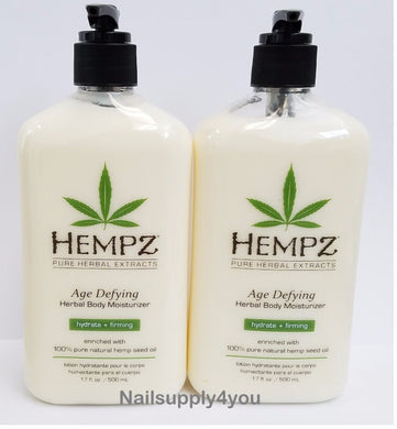 2 -Hempz Lotion Herbal Body moisturizer - Fresh Coconut & Watermelon - 17 fl. oz