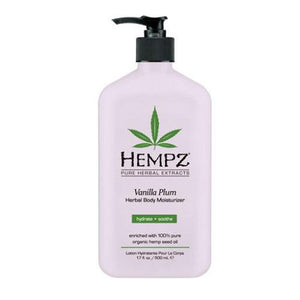 Hempz Lotion Herbal Body moisturizer - Vanilla Plum - 17 fl. oz