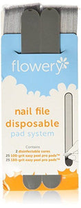 Flowery Nail File Disposable Pad System STARTER KIT - 50ct