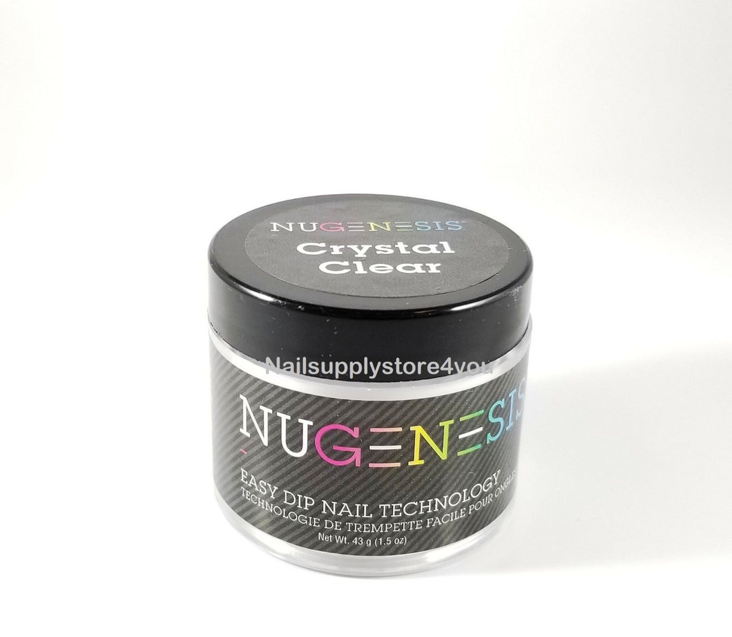 NUGENESIS - Nail Dipping Powder CRYSTAL CLEAR  1.5oz/4oz/16oz