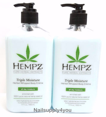 Pack of 2 -17oz Hempz Pure Herbal Extract Lotion - TRIPLE MOISTURE