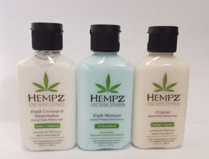 Hempz 2.25oz - 3 Scents (Triple Moisture + Original + Fresh Coconut)