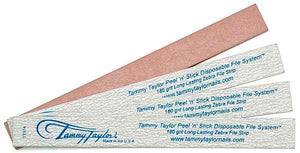 Tammy Taylor Peel 'N' Stick Disposable File - 180 Grit - Pack of 50 count
