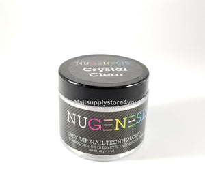 NuGenesis Manicure Nail Dipping Powder  2oz/43g - CRYSTAL CLEAR