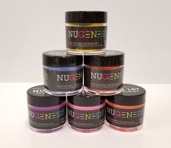 NUGENESIS  - Manicure Pedicure Nail Color Dipping Powder GLITTERS 1oz/jar (NL01 - 30)