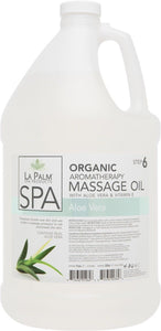 LA PALM - ORGANIC AROMATHERAPY MASSAGE OIL ALOE VERA & VITAMIN E -1 Gallon/128oz