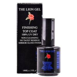 Non-Cleansing Finishing Top Coat - For Acrylic Pink and White - 0.5oz/15ml