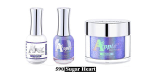 Apple 5G Holographic Dipping Powder/Chrome/Fairy Dust + Soak Gel + Nail polish