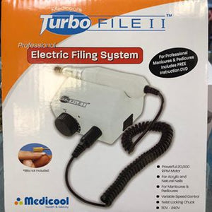 Medicool Turbo File II Pro Electric Nail Filing System (Newest Version)